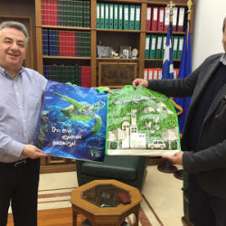 Συνάντηση Περιφερειάρχη με τον πρόεδρο του ΕΣΔΑΚ για τα έργα επεξεργασίας λυμάτων στην Κρήτη
